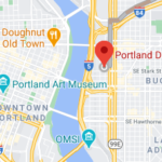 Portland location map